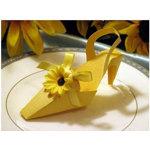 Sunflower Shoe Party Favor Box