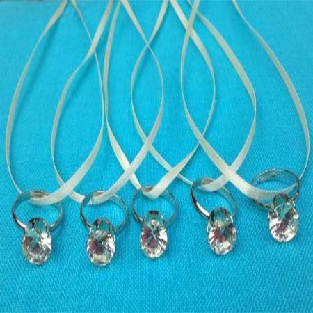 bling ring bridal shower game set of