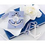 """Anchor"" Nautical-Theme Brushed-Metal Book Mark"