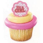 It's a Boy Cupcake Ring (Set of 12)