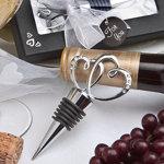Glistening Heart Design Bottle Stopper