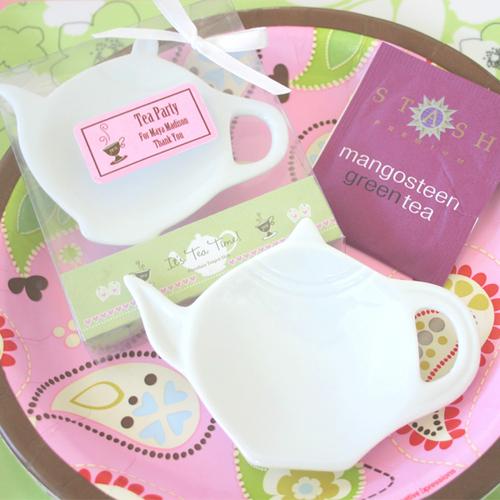 It's Tea Time! Personalized Porcelain Teapot Dish