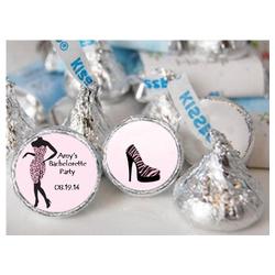 Pink & Black Fashionable Hershey Kisses Labels (5 Designs) (Sheet of ...