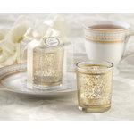 Golden Renaissance Glass Tealight Holder (Set of 4)