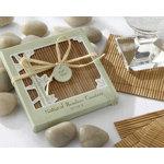 Natural Bamboo Eco-Friendly Coaster Favors (Four Coasters per Favor!)