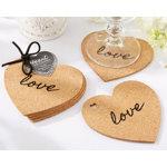 """Heart"" Cork Coasters (Set of 4)"