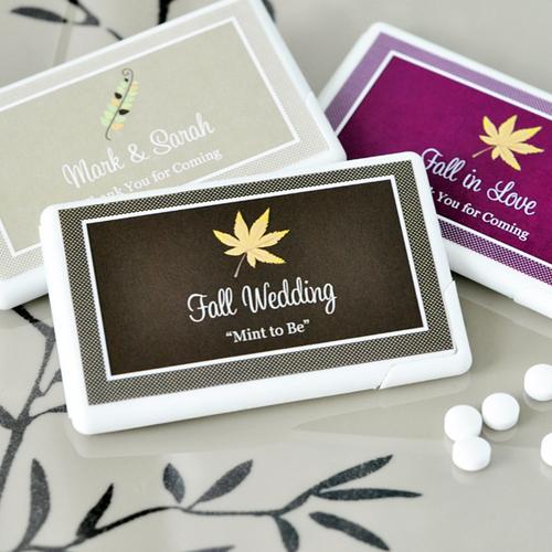 Personalized Fall Mini Mint Favors