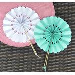 Rosette Paper Fans in 4 Colors