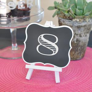 Framed Chalkboard Table Easels