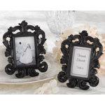 Black Scroll Design Elegant Place Card Holder/Photo Frame