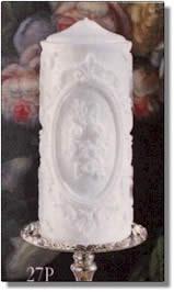 Framed Floral Portrait Pillar Candle