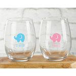 PERSONALIZED 9 OZ. STEMLESS WINE GLASS - LITTLE PEANUT
