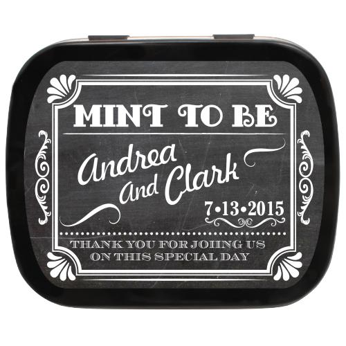 Chalkboard Mint To Be Wedding Favor Mint Tins