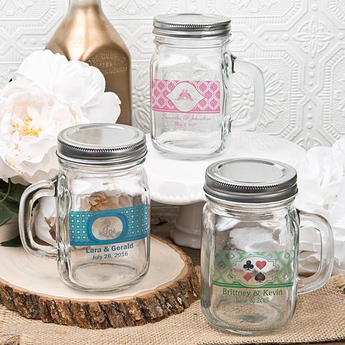 Personalized 12 Ounce Glass Mason Jar