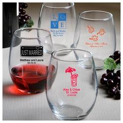 90d3b9ef6af Personalized Stemless Wine Glasses (ID  1336). Personalized Stemless Wine  Glasses. Favors ...