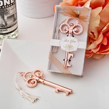 Rose Gold Vintage Skeleton Key Bottle Opener
