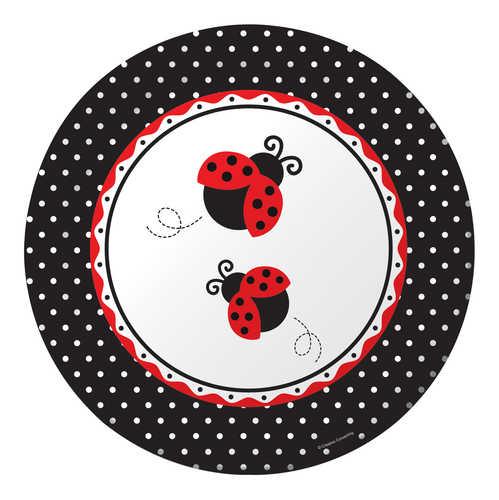 Ladybug Bridal Shower Luncheon Plates (Pkg. of 8)