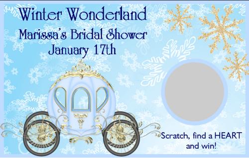 winter wonderland bridal shower scratch off game