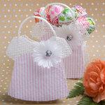 Pink/White Mesh Baby Jumper Bag
