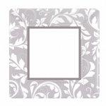 Silver Elegant Scroll Dinner Plates (pkg of 8)