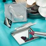 Silver Shoe Compact Mirror