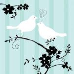 Two Love Birds Bridal Shower Collection Beverage Napkins( Pkg of 16 )
