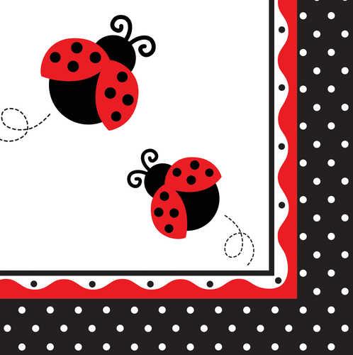 Ladybug Collection Luncheon Napkins (Pkg of 16)