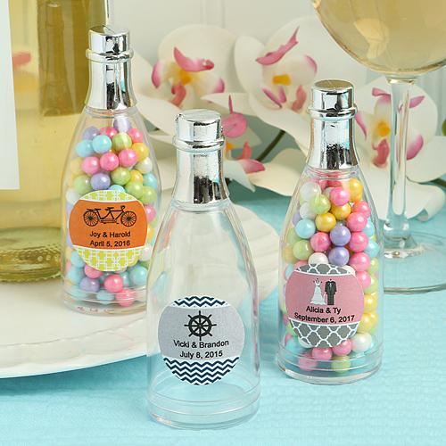 Personalized Champagne Bottle Plastic Fillable Bottle