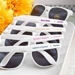 White Retro Personalized Sunglasses