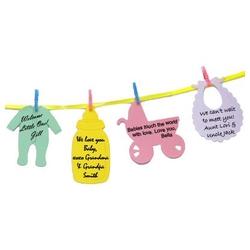 Words Of Love Baby Shower Clothesline Keepsake Set Of 24