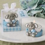BLUE BABY ELEPHANT TEA LIGHT HOLDER