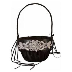 Adriana flower girl basket blackwhiteivory mightylinksfo