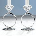 Set Of 2 Forever Diamond Taper Holders