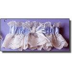 Victorian Lace, Satin Flower Garter