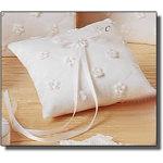 Satin Daisies Ring-Bearer Pillow