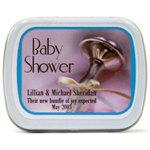Baby Shower Mints - Elegant Rattle Design