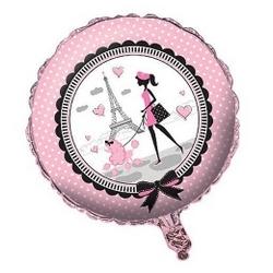 Pink Amp Black Paris Design Mylar Balloon