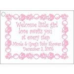 Blocks Baby Design Favor Card <br>Pink, Blue or Green