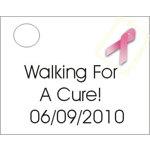 Breast Cancer Awareness Favor Card