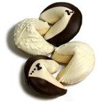 Bride & Groom Gourmet Chocolate Covered Fortune Cookies- Set of 2