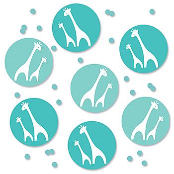 wild safari blue baby shower confetti id 3256