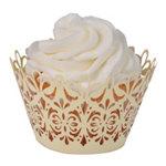 Lavish Cupcake Wrapper (50 Pack) Ivory