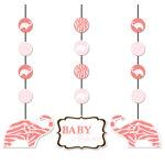 Wild Safari Pink Hanging Cutouts (pkg/8)