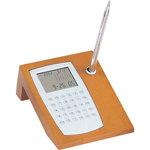 Executive Calendar Calculator Desk Set with Stand Pen
