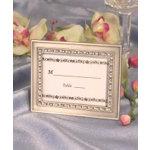 Clear Rhinestone Place Card Frames