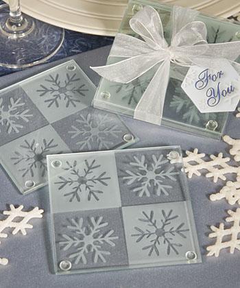 Lustrous Snowflake Coasters
