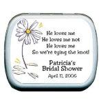 Daisy Petals Personalized Mints favors