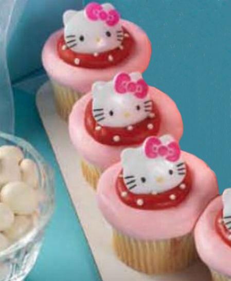 Hello Kitty Cupcake Ring Set Of 12