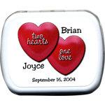 Two Hearts #2 Mints Wedding Favor