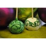 Green Swirl Gourmet Brownie Favor Pop